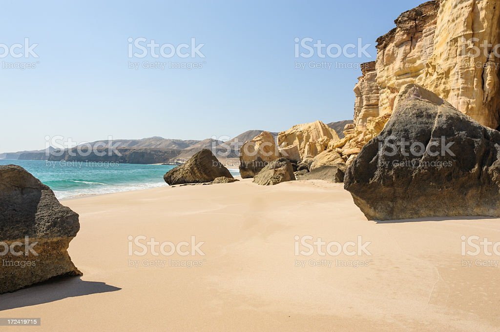 Ras al-Jinz beach stock photo