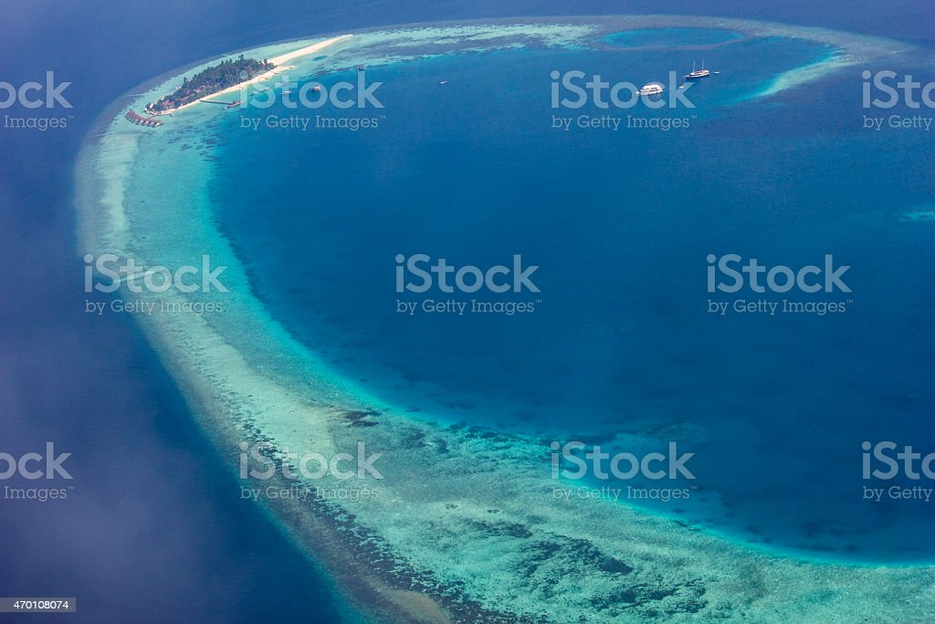 Rasdhoo Atoll in the Maldives stock photo