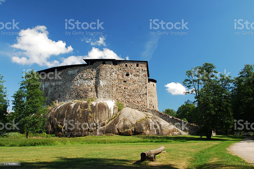 Raseborg Castle Ruins (Finnish: Raaseporin linna, Swedish: Raseborgs slott) stock photo