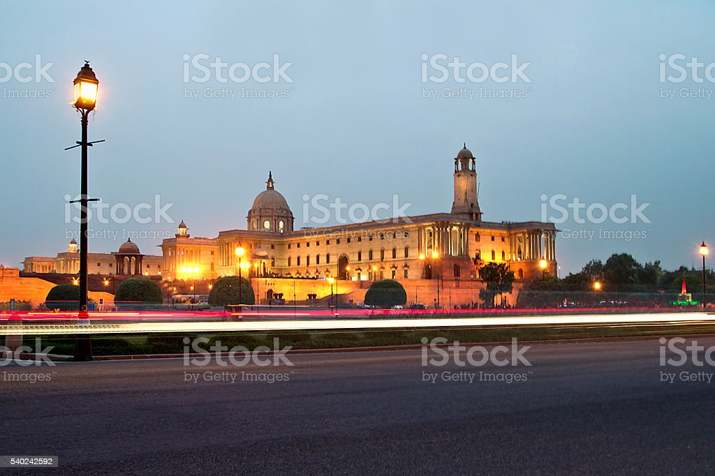Rashtrapati bhavan. stock photo