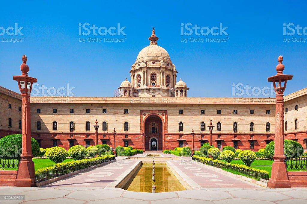 Rashtrapati Bhavan stock photo