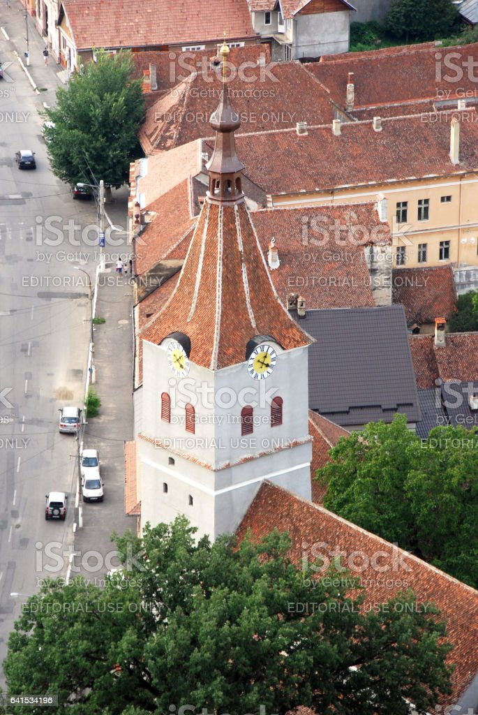 Rasnov Castle, Brasov County, Romania stock photo