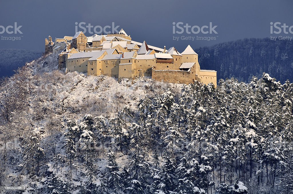 Rasnov Castle - Brasov, Romania royalty-free stock photo