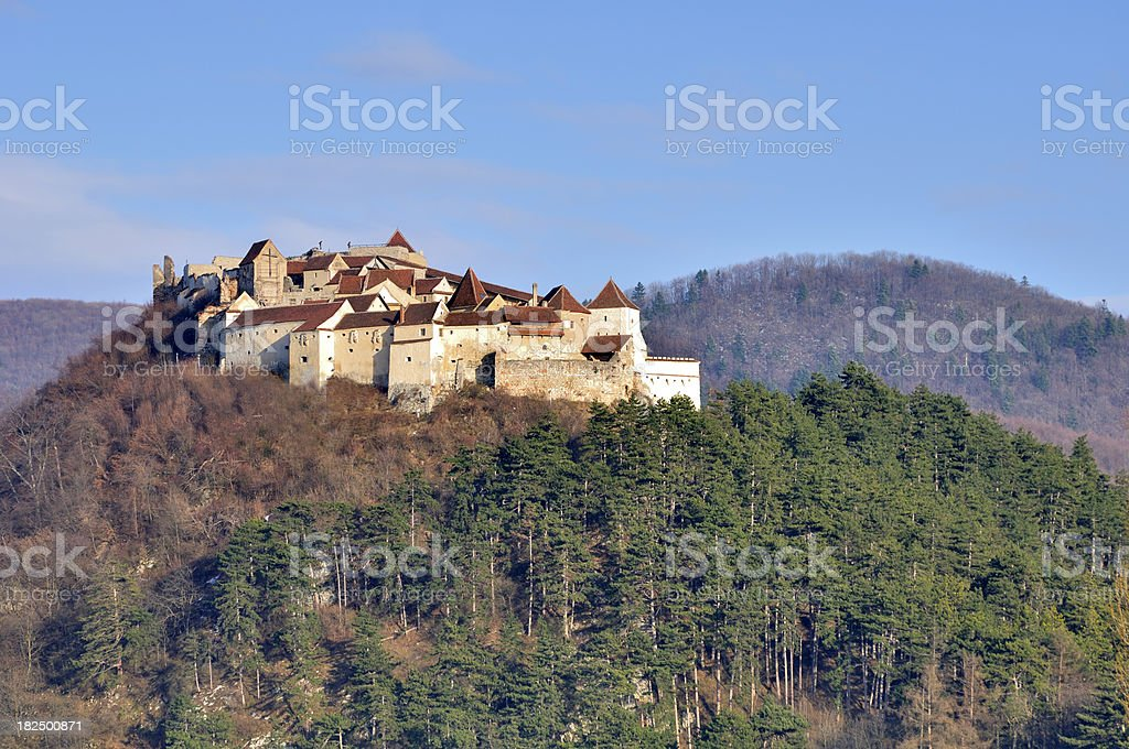 Rasnov Castle - Brasov, Romania royalty-free stock photo