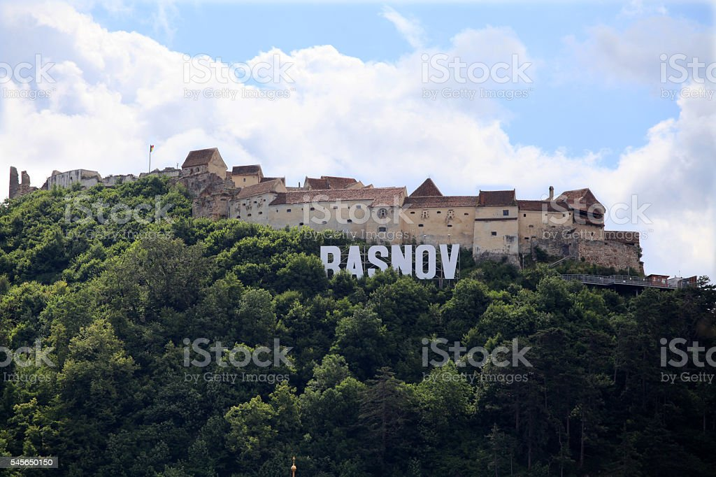 Rasnov Citadel, Brasov County, Romania stock photo