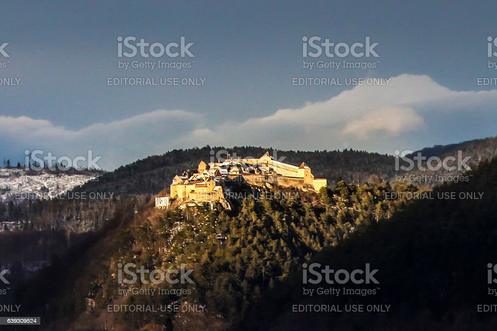 Rasnov Citadel stock photo