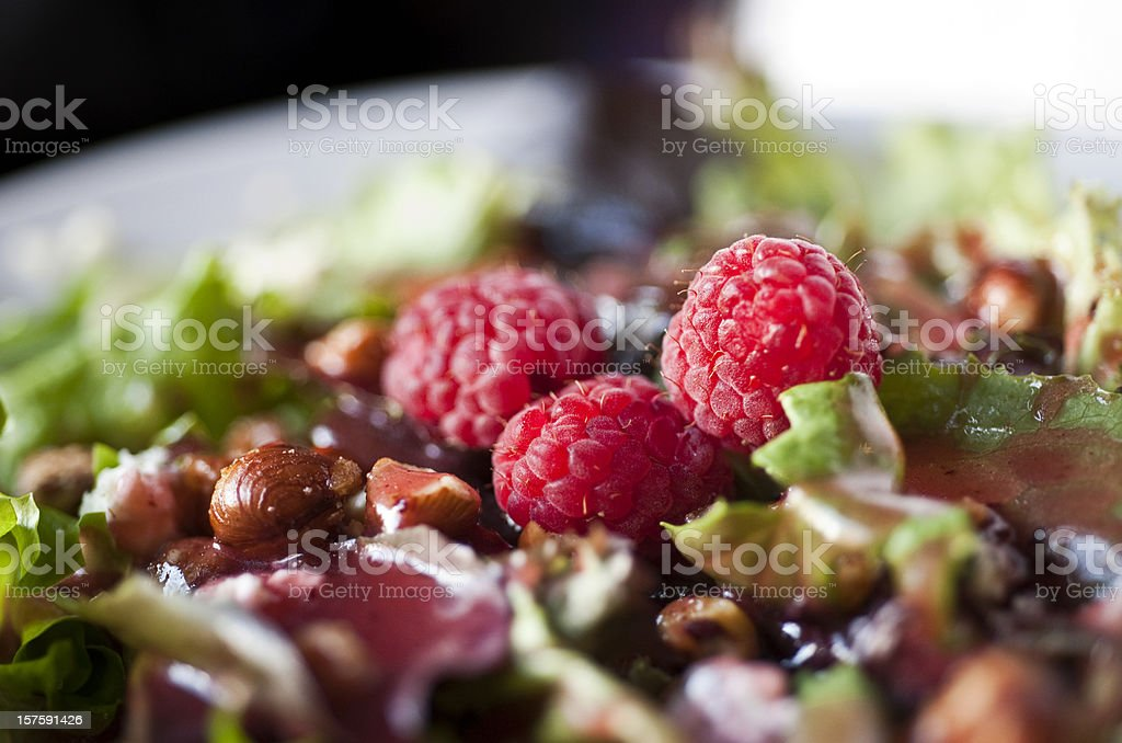 raspberries and blue cheese salad royalty-free stock photo
