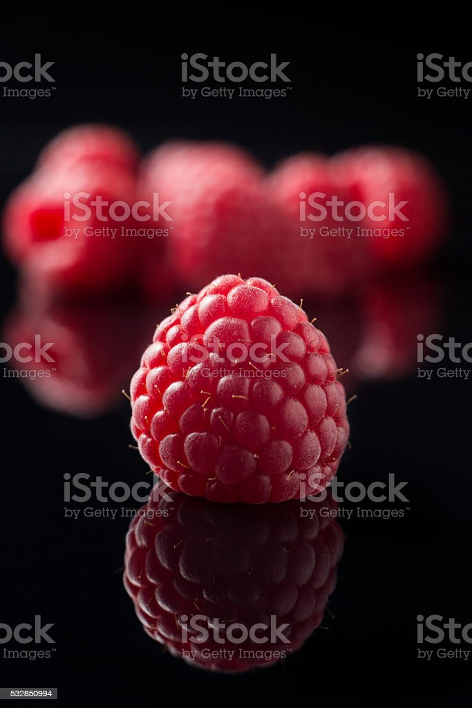 Raspberries as background stock photo