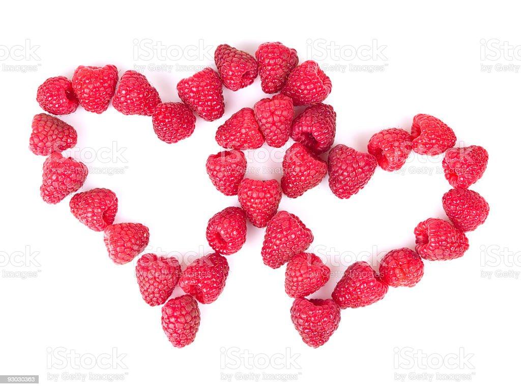 raspberries love stock photo
