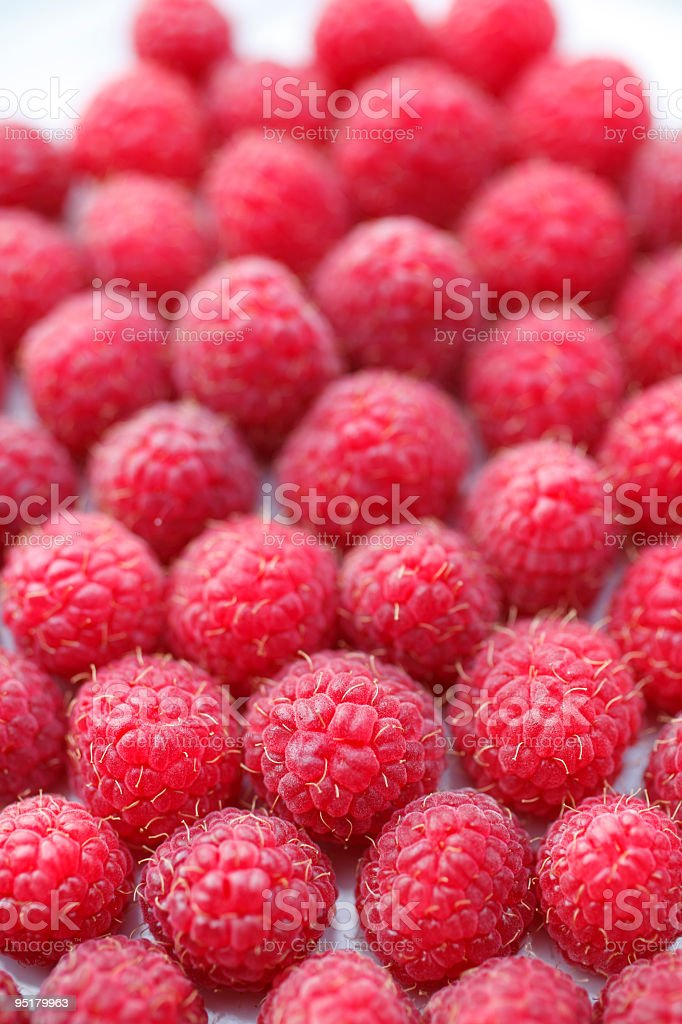 raspberries. macro photography royalty-free stock photo