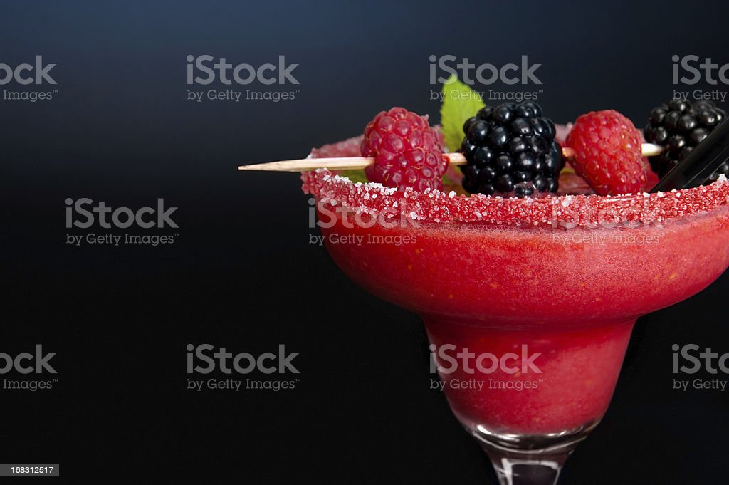 Raspberry and blackberry cocktail royalty-free stock photo