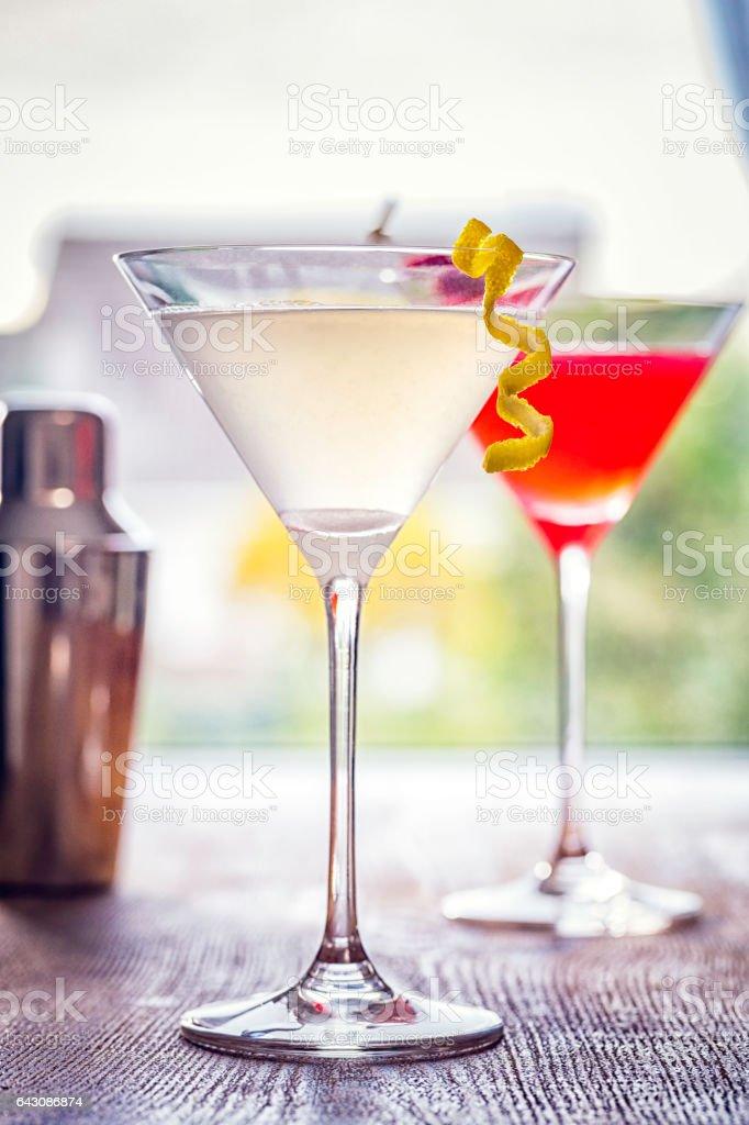Raspberry and Lemon Daiquiri stock photo