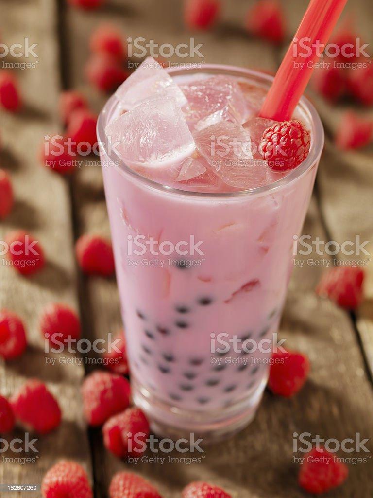 Raspberry Bubble Tea stock photo