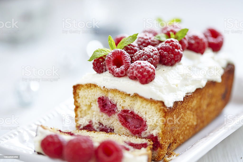 Raspberry Cake for holidays stock photo