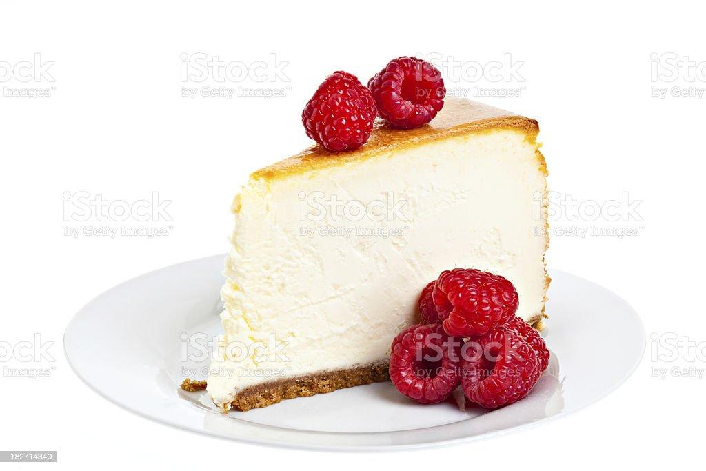 Raspberry Cheesecake stock photo