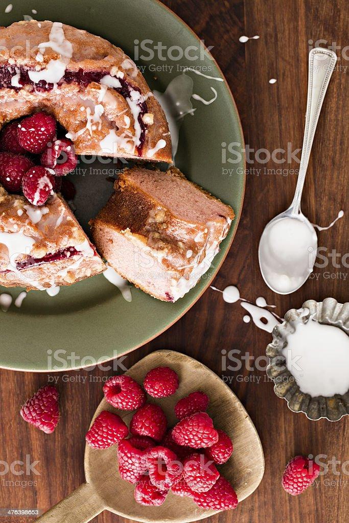 Raspberry Coffee Cake royalty-free stock photo
