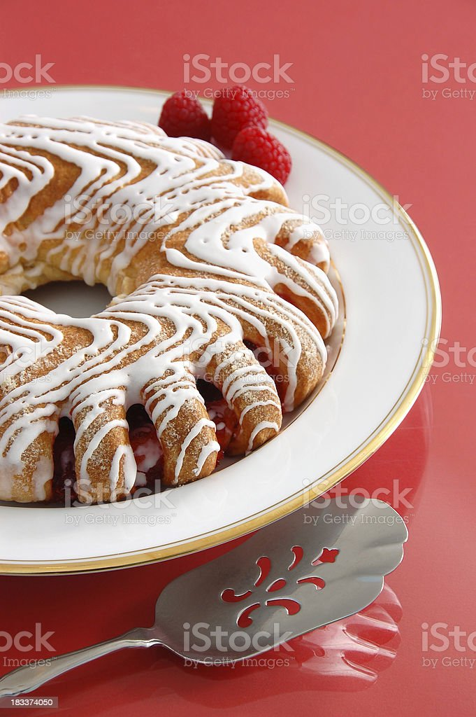 Raspberry Danish stock photo