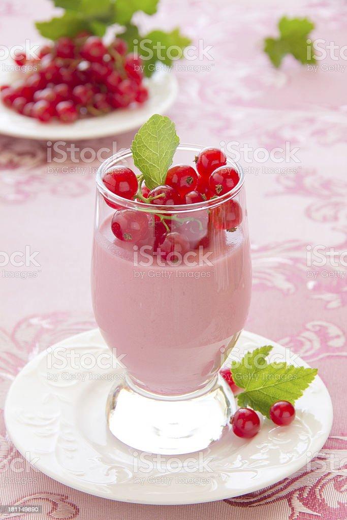 Raspberry dessert panna cotta, selective focus. royalty-free stock photo