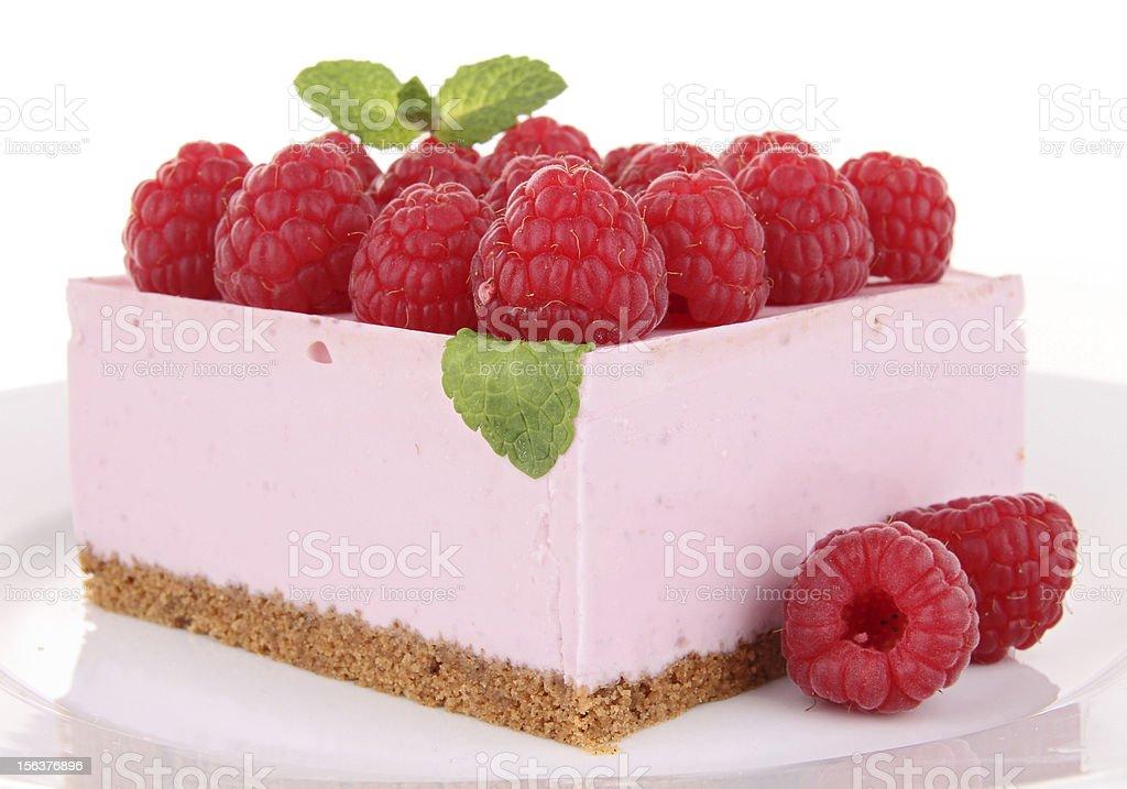 raspberry dessert stock photo