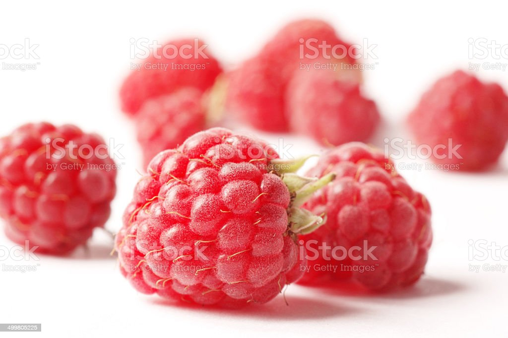raspberry isolated on white stock photo