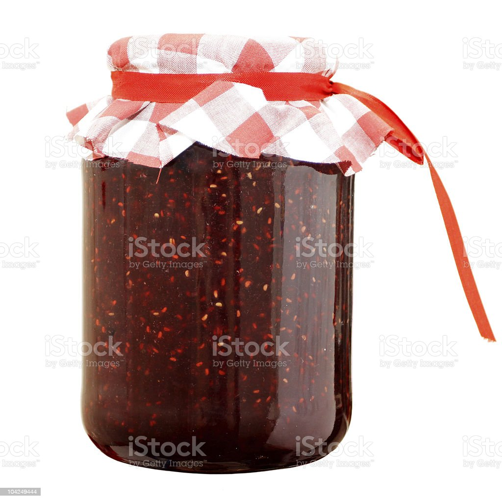 raspberry jam stock photo