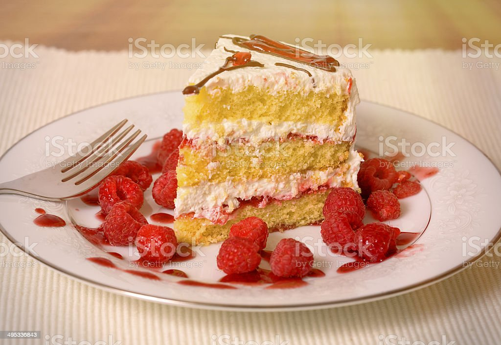 Raspberry Layer Cake royalty-free stock photo