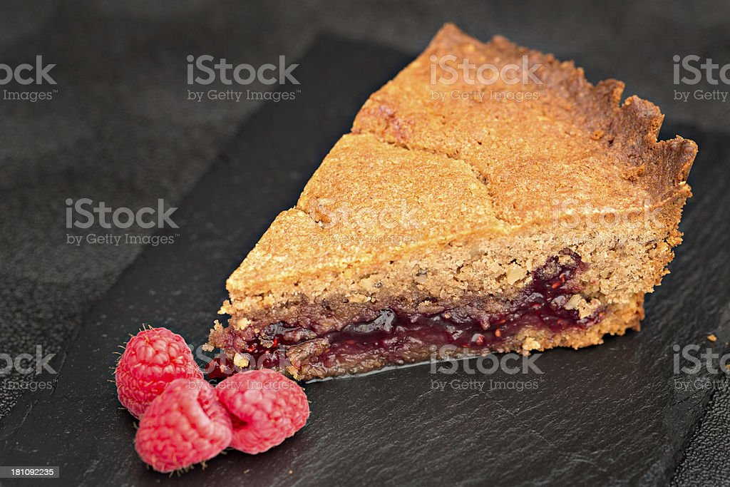 Raspberry Linzer Torte stock photo