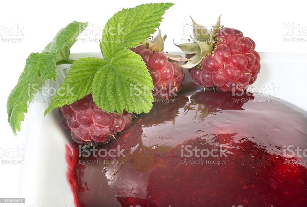 Raspberry marmalade with Raspberries stock photo