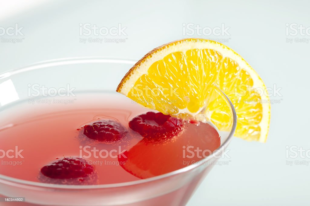 Raspberry Martini Cocktail. stock photo