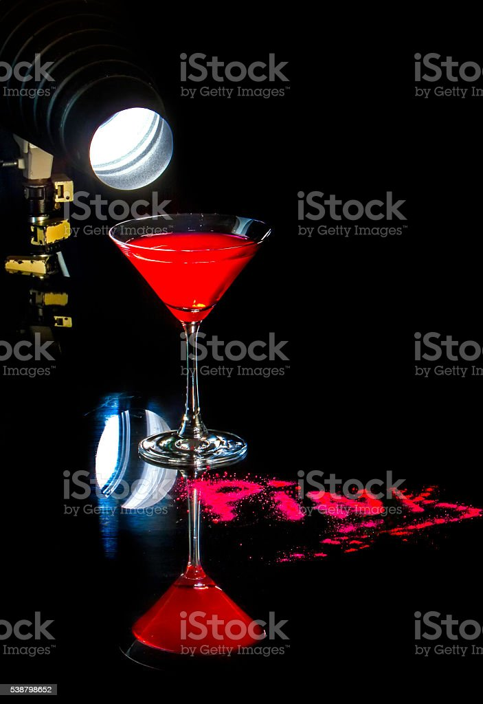 Raspberry Martini Cocktail stock photo