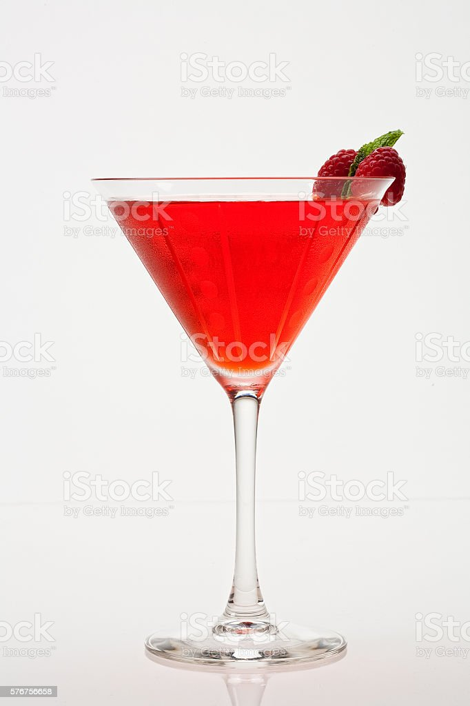 Raspberry Martini stock photo