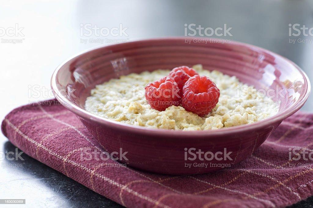 Raspberry Oatmeal stock photo