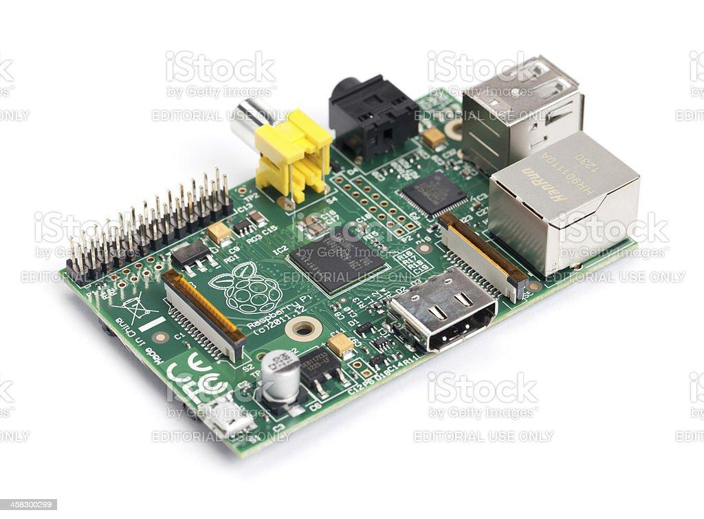 Raspberry Pi Circuit Board stock photo