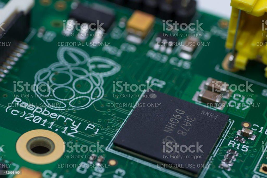 Raspberry Pi Logo stock photo