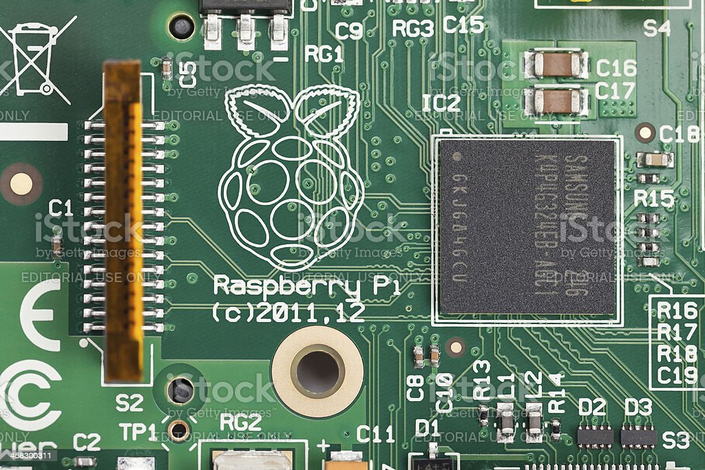 Raspberry Pi Miniature Personal Computer stock photo
