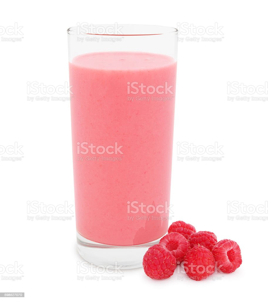 Raspberry Smoothie (with path) stock photo