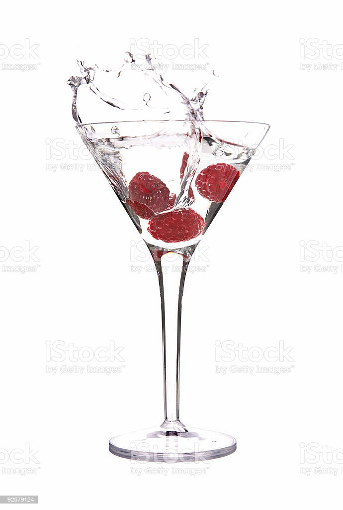 Raspberry Splash stock photo