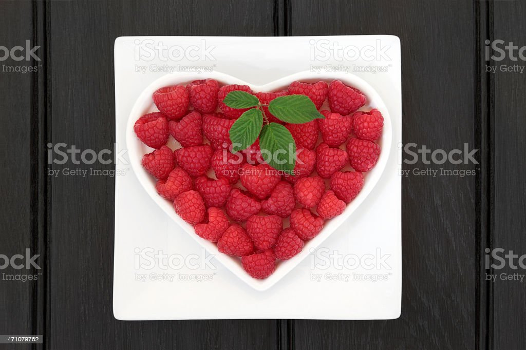 Raspberry Super Food stock photo
