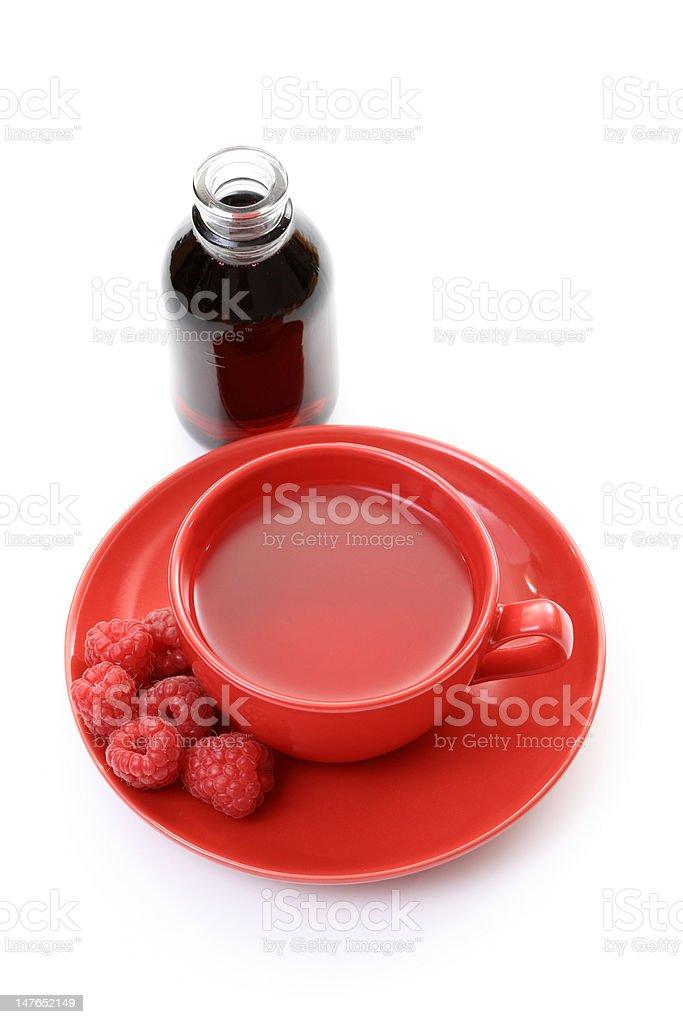 raspberry tea royalty-free stock photo