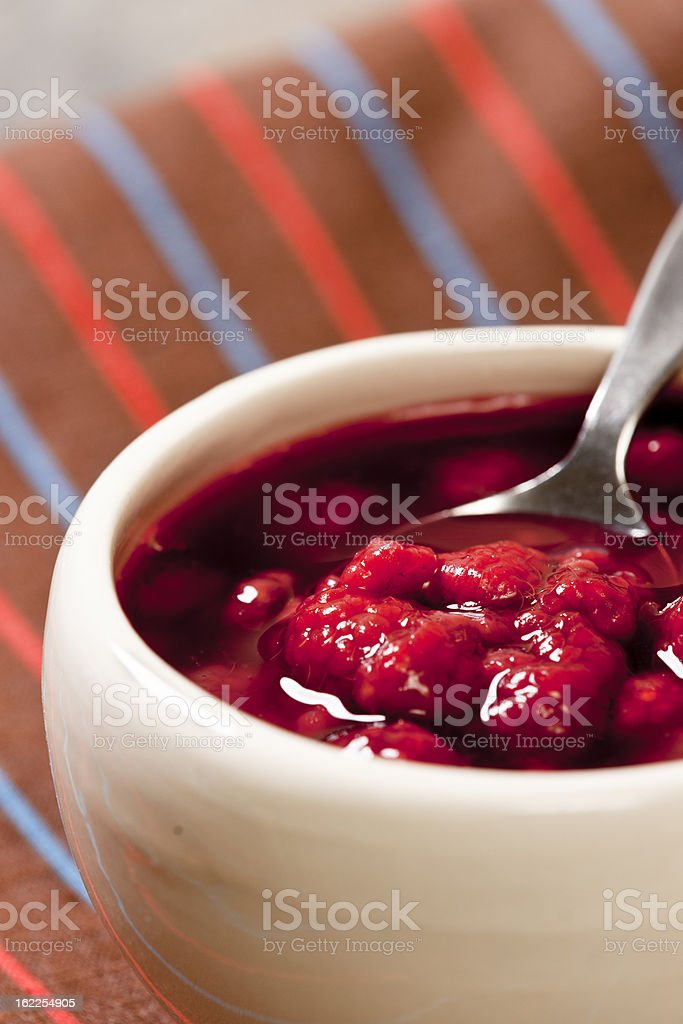 Raspberry Topping royalty-free stock photo