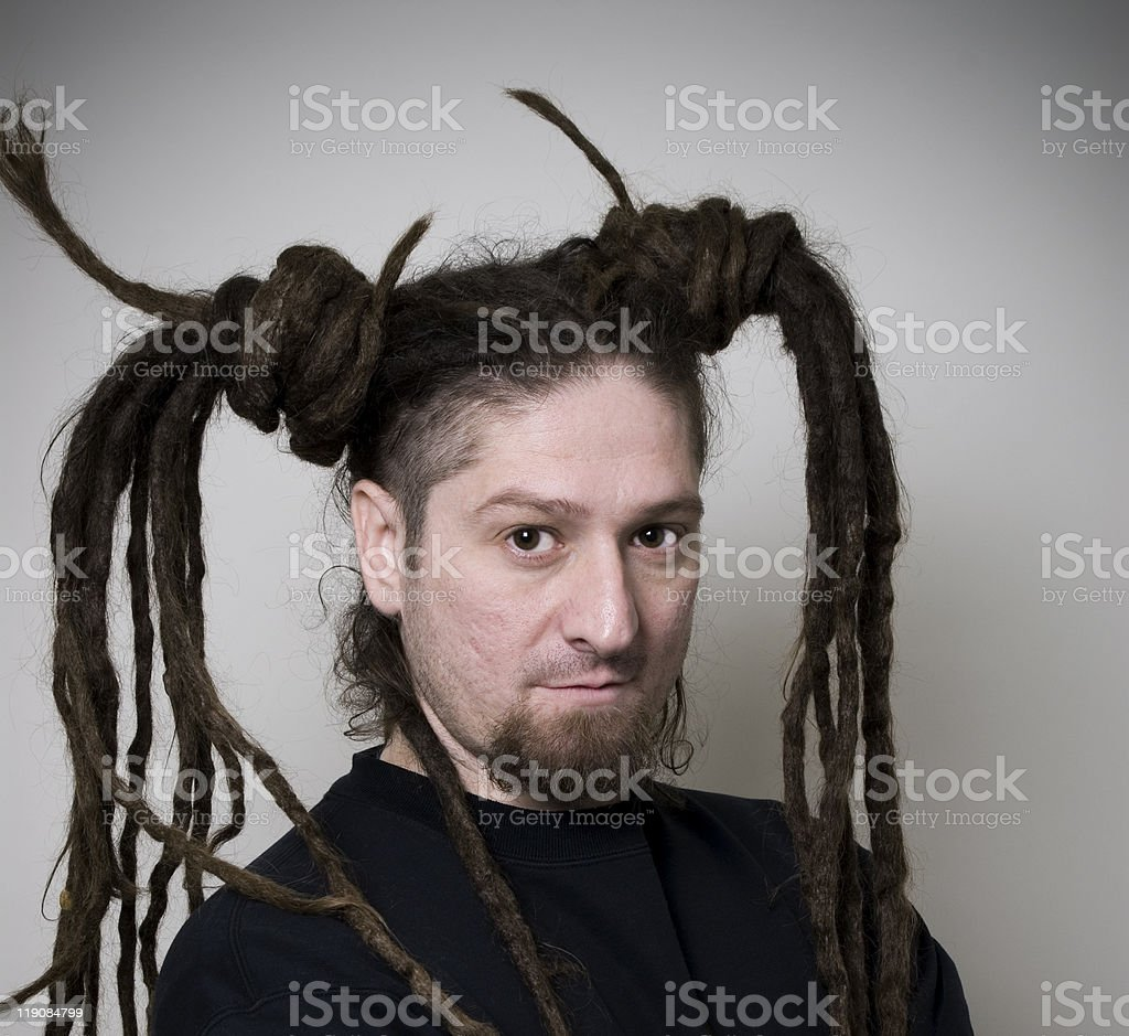 Rasta Hairdo stock photo