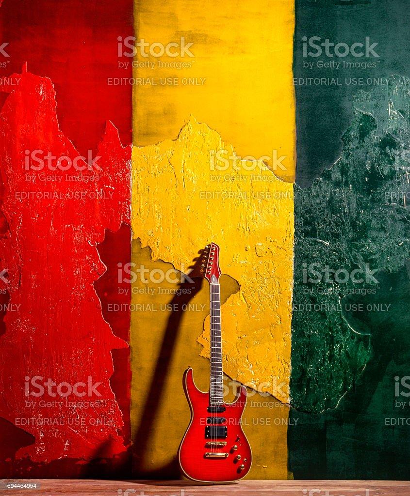 Rasta reggae music, Jamaica stock photo