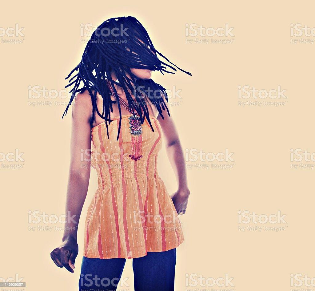 Rastafarian girl royalty-free stock photo