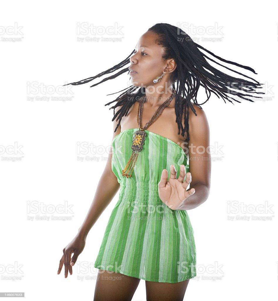 Rastafarian girl stock photo