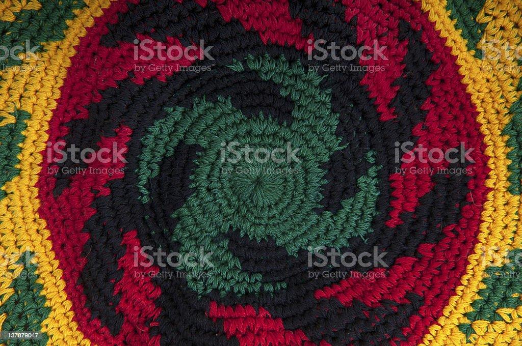 Rastafarian hat close-up stock photo