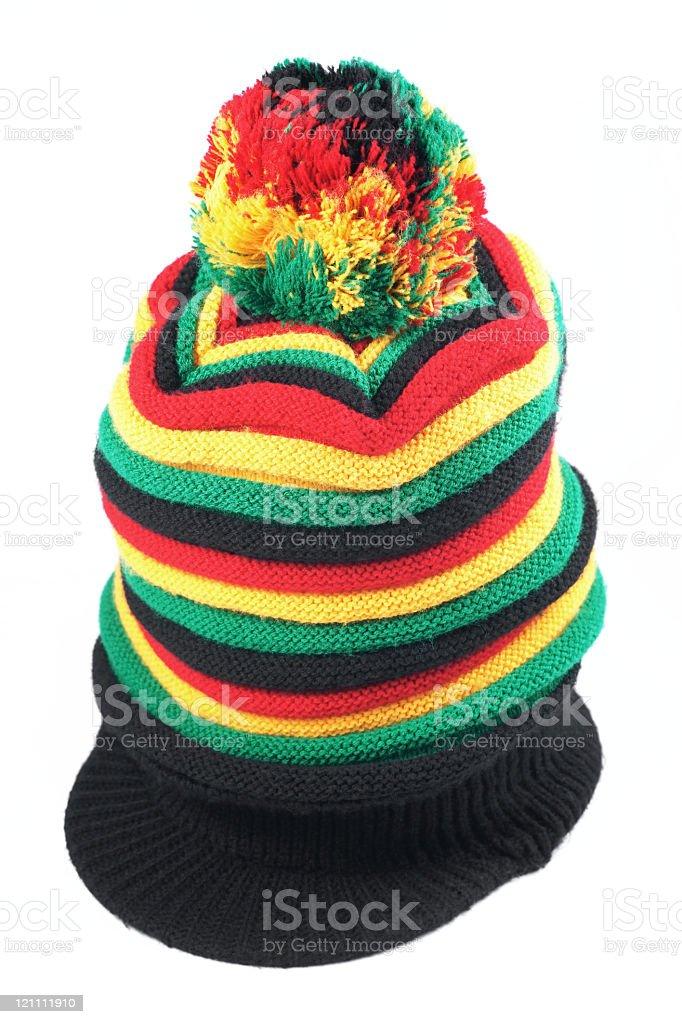 Rastafarian hat isolated on white background stock photo