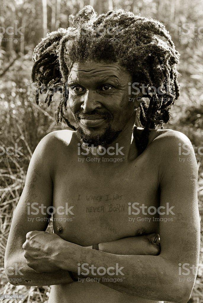 Rastafarian royalty-free stock photo