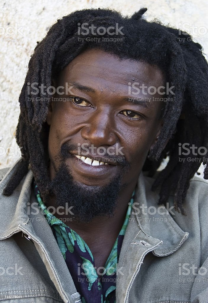 Rastafarian portrait stock photo