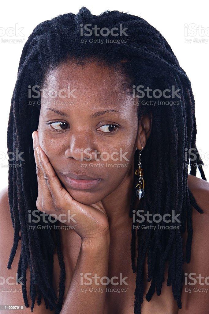 Rastafarian woman royalty-free stock photo