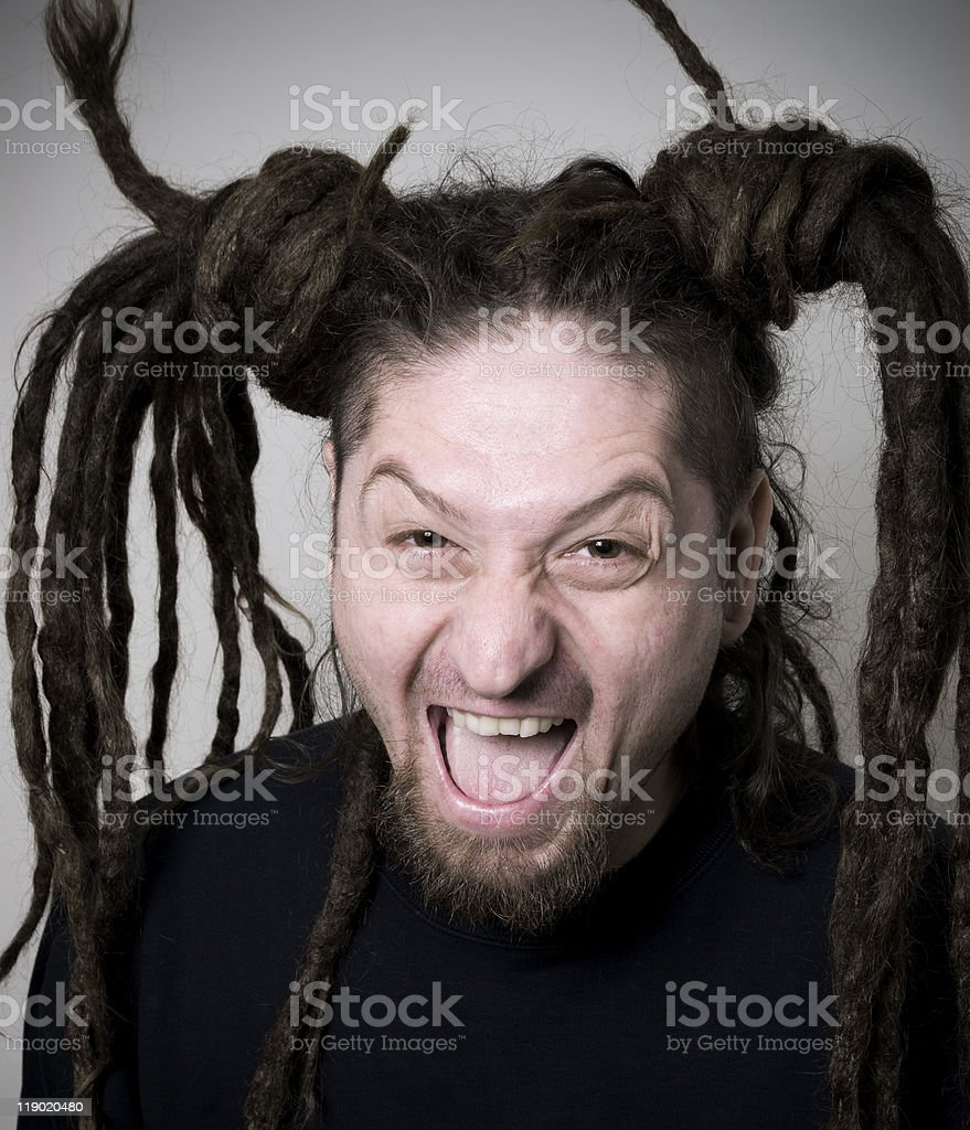 Rastaman funny man stock photo
